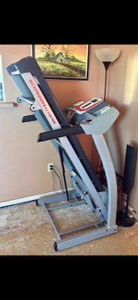 Grey and black schwinn fitness treadmill