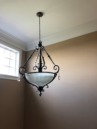 black and white uplight chandelier Anderson, 29621