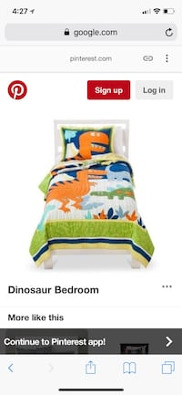 Dinosaur twin size bedding from target $40 includes quilt pillow case and sheet set Whittier, 90603