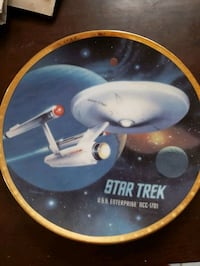 Collectable plate of Starship Enterprise
