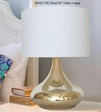 "Nu Steel 15"" Table Lamp - Delivery"