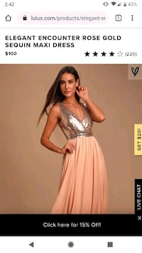 rose gold gown Toronto, M3L 0C7