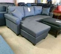Brand New Charcoal Linen Sectional Sofa Couch