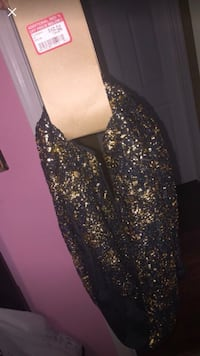 Black and Gold sparkle infinity scarf Florence, 41042