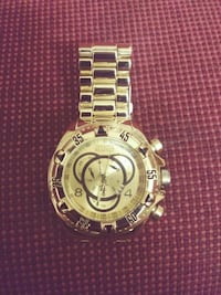 round gold-colored chronograph watch with link bra Springfield, 97477