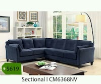 tufted black suede sectional sofa Whittier