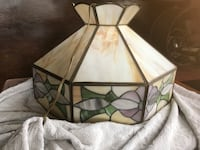 Vintage swag, slag stained glass hanging lamp Alexandria, 22315