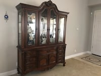 China Cabinet in Dark Cherry. In excellent condition. Hayward, 94545
