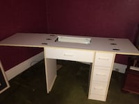 White Sewing Machine Table Hamilton