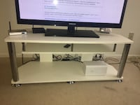 White & silver Tv stand for sale TORONTO