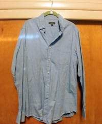 blue chambray button-up long-sleeved shirt Murray, 84107