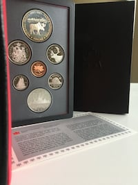 1985 Royal Canada Mint Iconic Moose Proof Set w/ $1 50% Silver Calgary, T2R 0S8