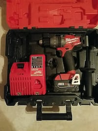 black and red Milwaukee cordless power drill with tool case Lantana, 33462