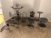 Lot of 7 Decorative Metal Candle Holders 30 mi