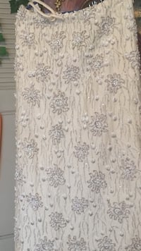 Ivory on Ivory floral skirt Delray Beach