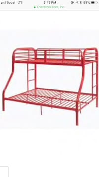 Red metal bunk beds  Wilmington, 28401
