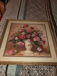 Pink and white flowers painting Los Angeles, 90501