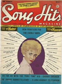 Song Hits Mag  1961 The Everly Brothers SONG HITS Avalon Fabian Shirel