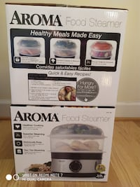 AROMA 5-Qt Food Steamer Silver Spring