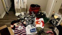 Hockey equipment. Goalie and player and jerseys  St. Catharines, L2S 3W3