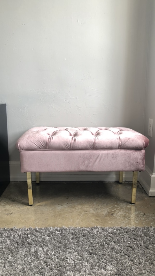 Fantastic Light Pink Velvet Storage Bench Squirreltailoven Fun Painted Chair Ideas Images Squirreltailovenorg