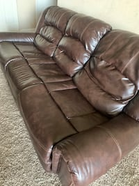 Real genuine Italian leather recliner sofa and loveseat Gaithersburg, 20878