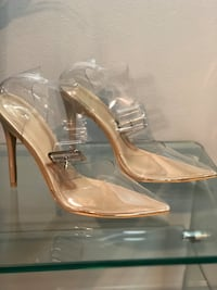 Brand new clear ankle buckle pumps, size 8 US Richmond Hill, L4C