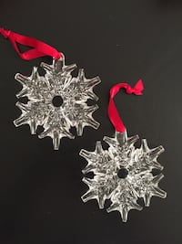 Pierced Snowflake Crystal Ornament by Waterford. 2 for sale-= $24 each Arlington