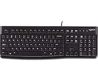Logitech K120 Keyboard - Wired USB - Low-profile Keys Quiet Keys Spill Resistant - English Mississauga