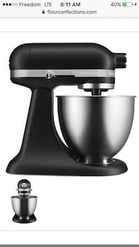Kitchen aid mixer artisan mini new in box matte black