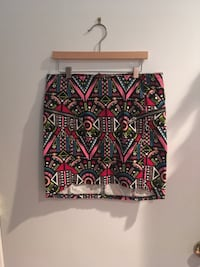 Print Skirt with zippers 37 km