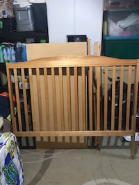 3 in 1 Crib- No longer sold in stores turns into a day bed or just head board without rails for a double bed.