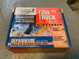 Tow truck in a box wide track