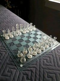 Glass Chess/Checkers Board, Backgammon board , comes with all you need
