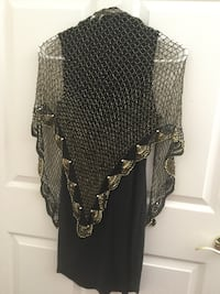 Gold black beaded shawl new North Las Vegas, 89032