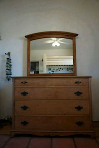 Solid oak dresser with mirror.   Yucca Valley, 92284
