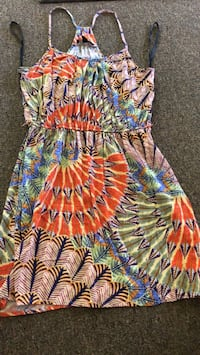 yellow, blue, and red floral sleeveless dress Pahoa, 96749