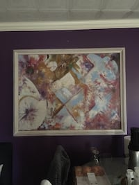 abstract painting with white frame 36 km