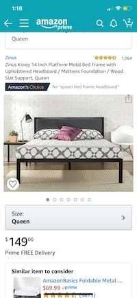 Queen size bed frame Woburn, 01801