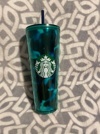 Starbucks summer 20202 limited edition Teal Tortoise Cold Cup
