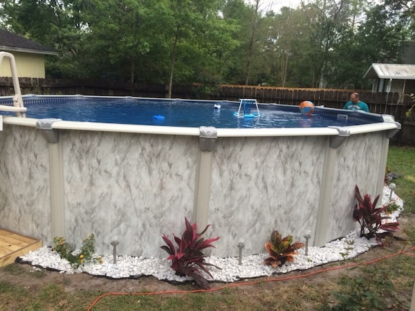 52 ft doughboy pool two years old new liner last year