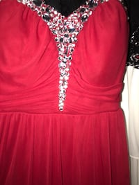 Red dress open back size 7