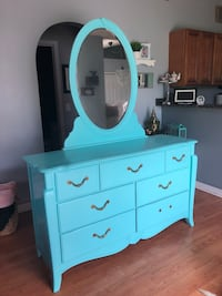 Turquoise Vintage Dresser with Mirror Kissimmee, 34759