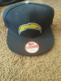 black Los Angeles Chargers print 9Fifty Snapback flat brim cap Las Cruces, 88007
