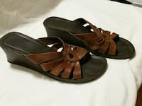 Brown strappy wedge sandals Worcester, 01610