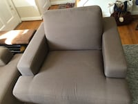 Gray fabric padded Loveseat 42Lx39W Arlington, 22205