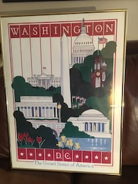 Vintage 1986 Washington DC Poster LE signed numbered Falls Church, 22042