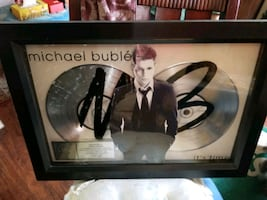 Micheal buble platinum plaque