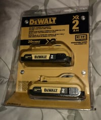 Dewalt 20v XR Lithium Ion Batteries 2 Pack