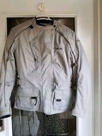 Women's Gray Tour Master Motor Cycle Jacket Size M Mississauga, L5N 2J9
